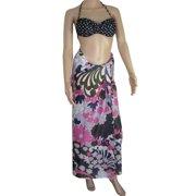 Womens 'Witney' Pareo Cloth Skirt/Dress, Black, 72 x 45