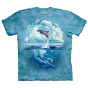 Dolphin Sky Adult T-Shirt by - 103098