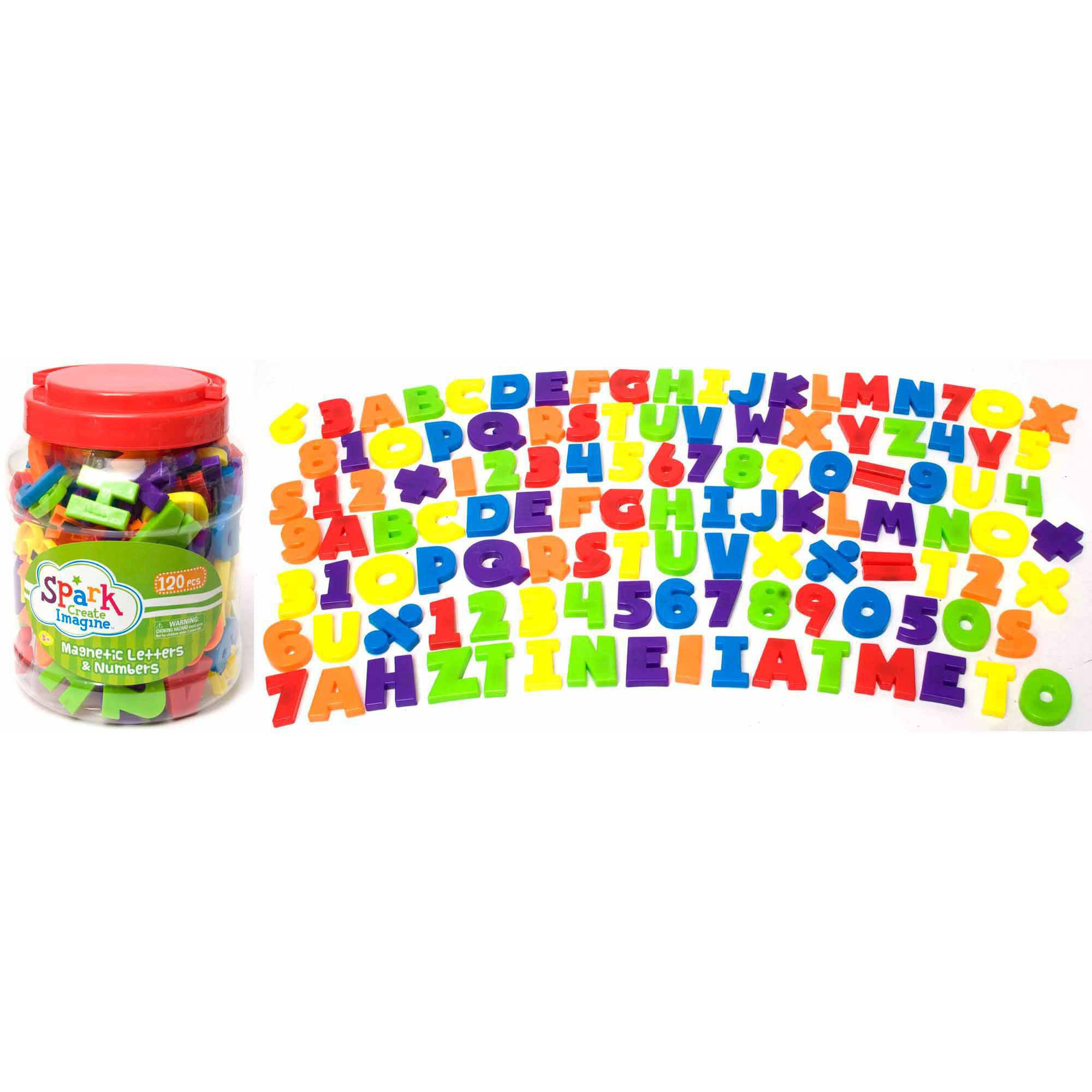 120-Piece Magnetic Letters and Numbers Set