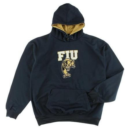 Old Varsity Mens Florida International Golden Panthers College Pullover Hoodie Navy Blue