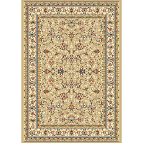 Crescent Drive Rug Company Ancient Garden Light Gold/Ivory Area Rug