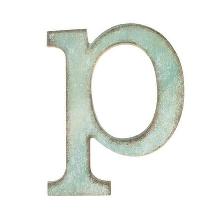 Distressed Alphabet SM Letter p