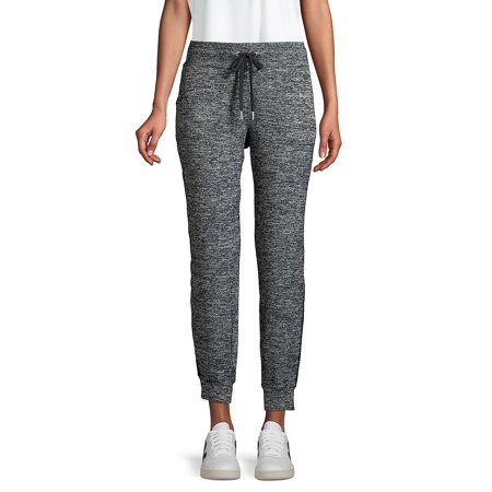Heathered Side-Striped Joggers