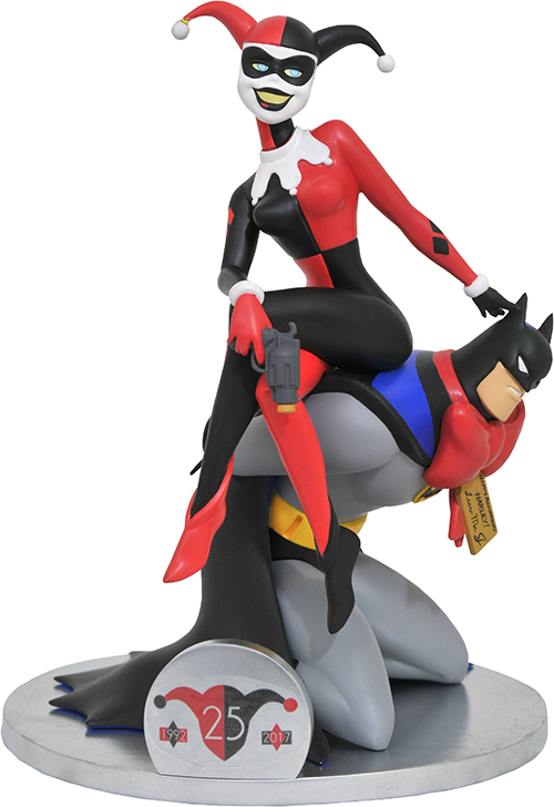 Batman The Animated Series 25th Anniversary Deluxe PVC Harley Quinn On Batman by Diamond Select Toys