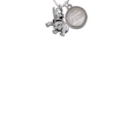 Silvertone Elephant You Will Forever Be My Always Engraved Necklace