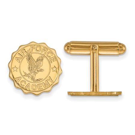 Air Force Crest Cuff Links (14k Yellow Gold)