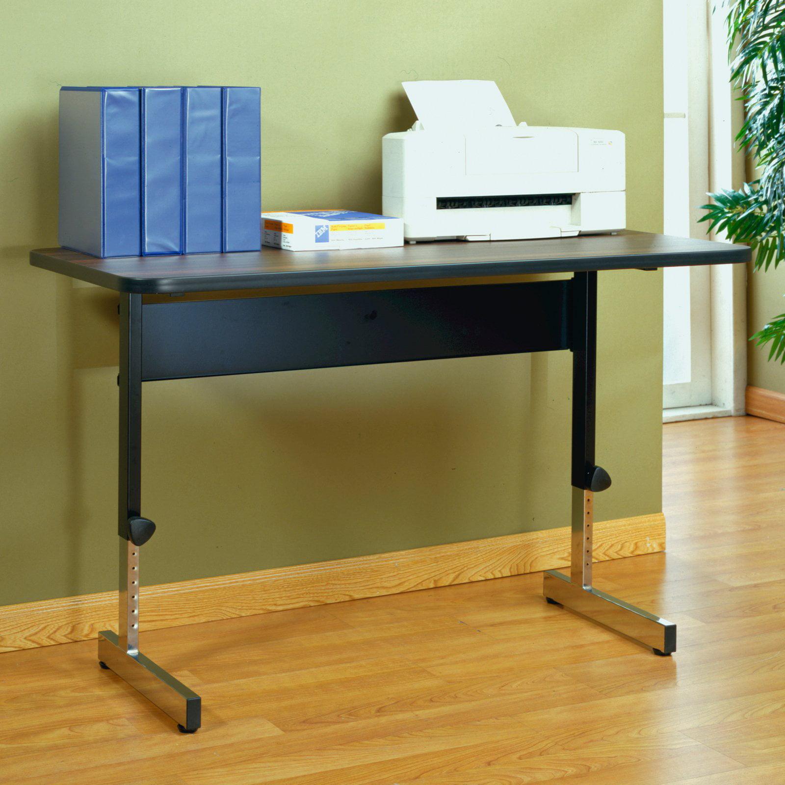 "Calico Designs Adapta Desk 48"" W, Black and Walnut"