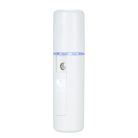 Mini Nano Moisture Spray Mist Beauty Moisturizing Hydrating Portable Spray Device Facial Steamer Face Care USB Rechargeable Humidifier Nano Handheld Sprayer (Facial Steamer Handheld)