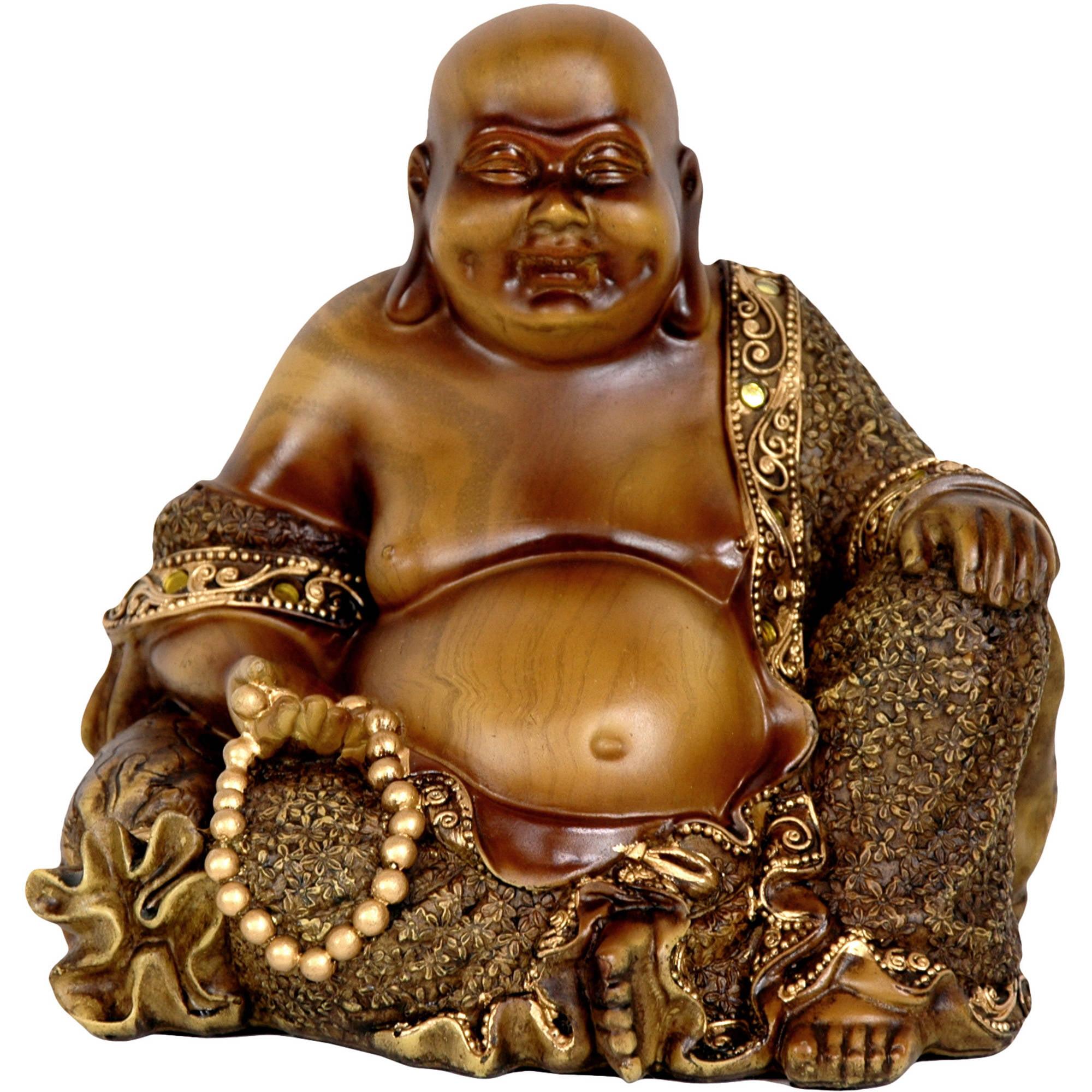 """6"""" Sitting Laughing Buddha Statue"""