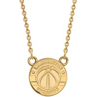 LogoArt NBA Washington Wizards 14kt Gold-Plated Sterling Silver Small Pendant with Necklace