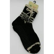 Treehouse Knits Sock Slippers Booties Tassle Pom-Pom Non-Slip Fits, 9-11 - NEW