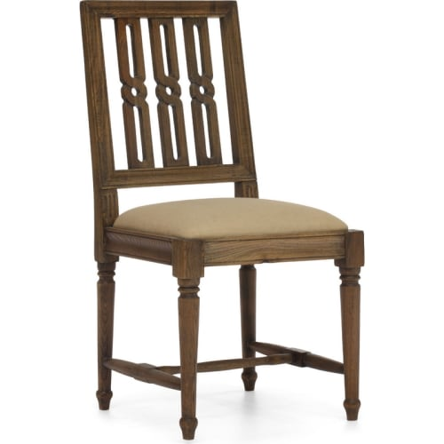 "Zuo Modern 98152 Excelsior 17"" Wide Elm Frame Dining Chair with Upholstered Seat"