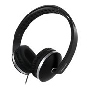 On Ear Headphones with Microphone Wired Headphones Headsets Volume Control for Cell Phone, Tablet, PC, Laptop, MP3/4,black