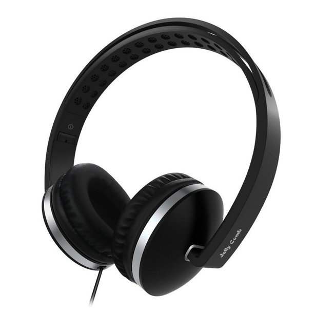 On Ear Headphones With Microphone Wired Headphones Headsets Volume Control For Cell Phone Tablet Pc Laptop Mp3 4 Black Walmart Com Walmart Com