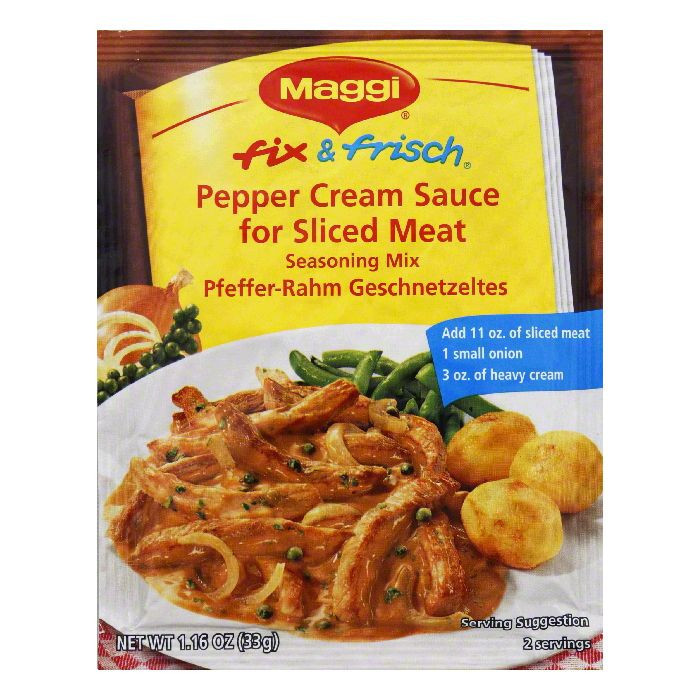 Maggi Seasoning Mix, Pepper Cream Sauce for Sliced Meat