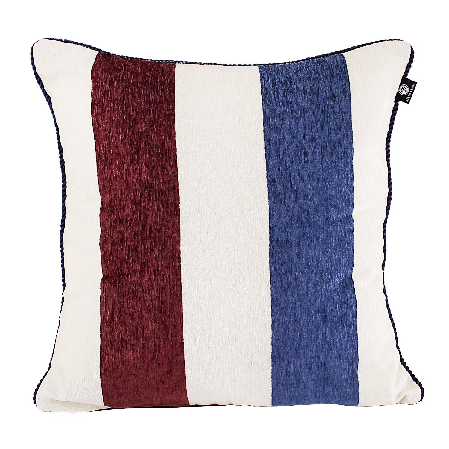 "DL furniture - True Chenille Fabric Throw Pillow Cushion Case Cover Shell W/ Hidden Zipper 18"" x 18"" 