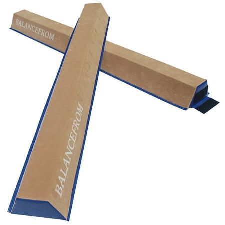 Balancefrom GoGym Sectional Floor Balance Beam, 5 Feet Each, Pack of 2