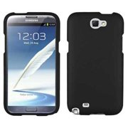 GALAXY NOTE 2 BLACK COVER CASE, BEYOND CELL RUBBERIZED PROTEX HARD SHELL PROTECTOR CASE COVER FOR SAMSUNG GALAXY NOTE 2 II (L900, i605, SGH-i317, T889, R950, N7100)