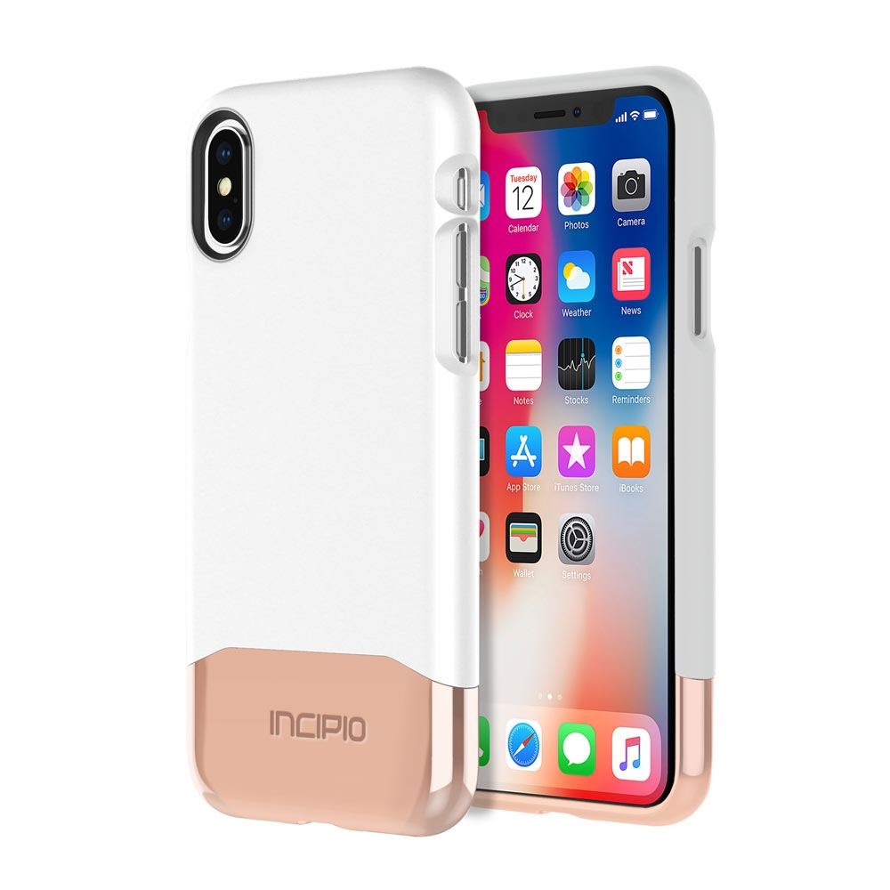 Incipio Edge Chrome iPhone X Case with Soft Touch Shell and Chrome Bottom Piece for iPhone X -