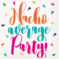 Nacho Average Party Fiesta Paper Cocktail Napkins, 5in, 32ct