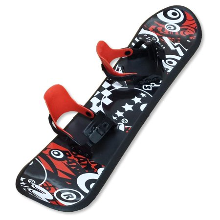 Grizzly Snow 95cm Deluxe Kid's Beginner Red and Black Snowboard ()