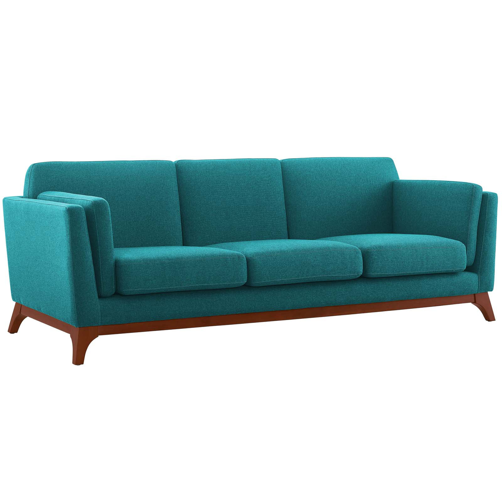 Modern Contemporary Urban Design Living Room Lounge Club Lobby Sofa Fabric Aqua Blue Walmart Com Walmart Com