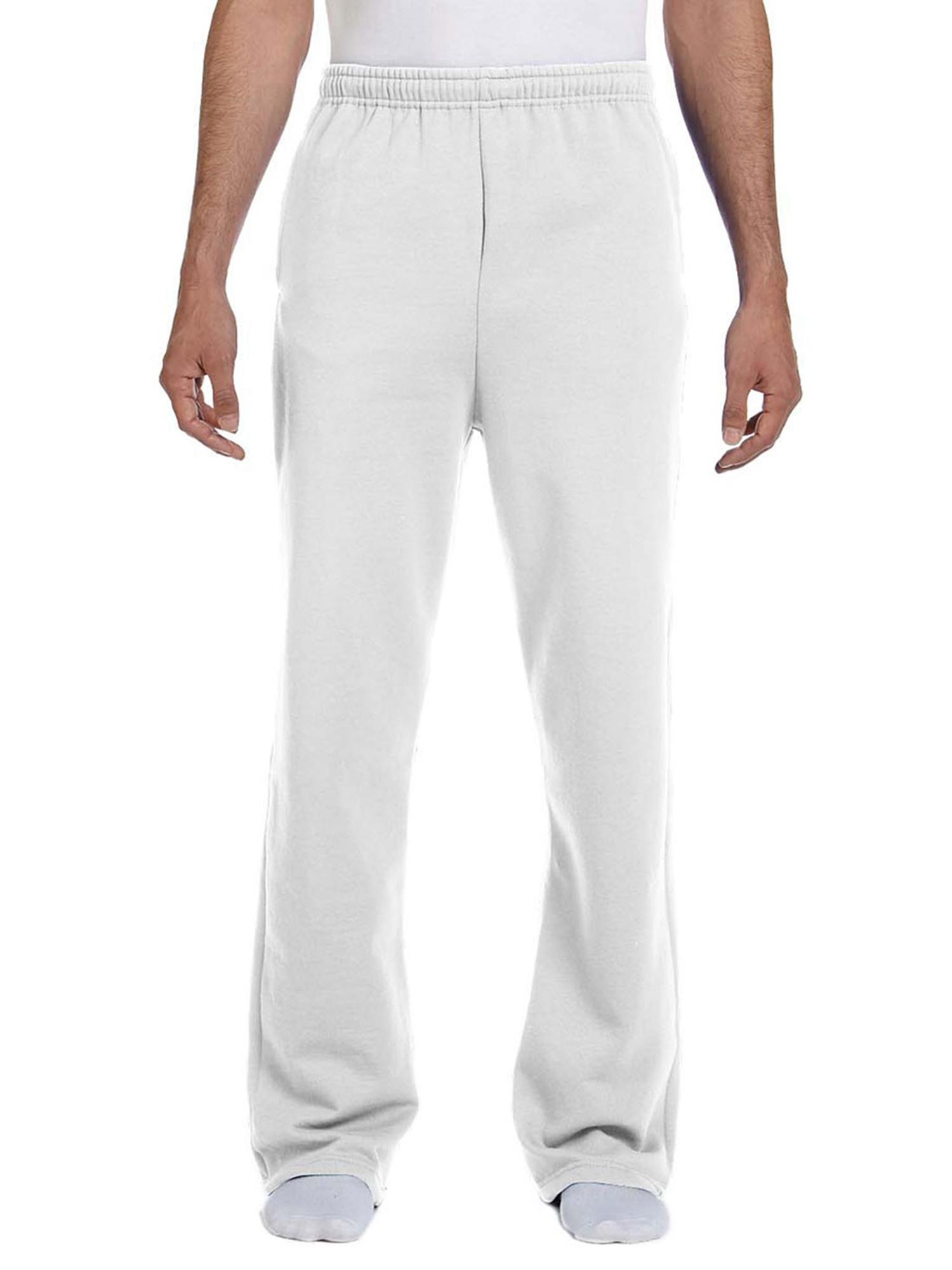 Jerzees Men's NuBlend Fleece Open-Bottom Pocket Sweatpant_S_Black Heather