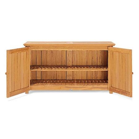 Wholeteak Outdoor Patio Grade A Teak Wood Chest Storage Cabinet Wmstch