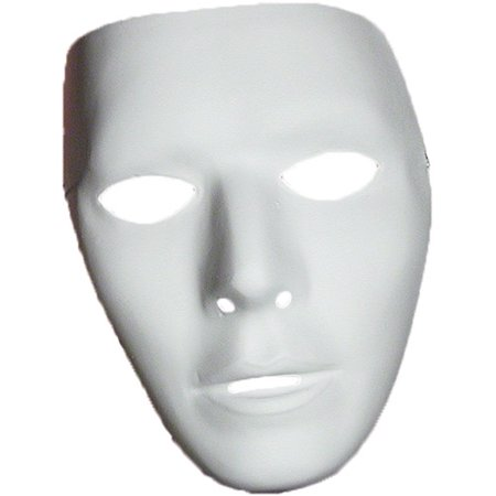 Blank Male Mask Halloween Accessory - Plastic Masks