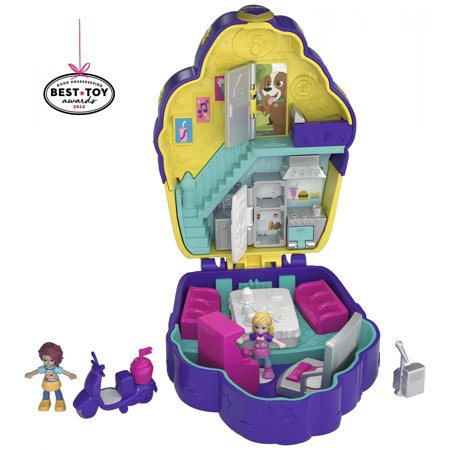 Polly Pocket Mini (Polly Pocket Pocket Sweet Treat Cupcake Cafe-Themed Compact with Dolls )