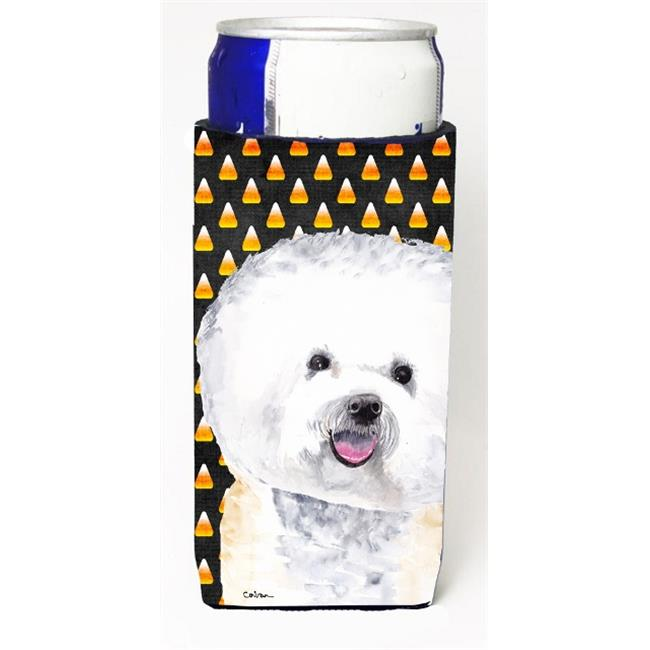 Carolines Treasures SC9173MUK Bichon Frise Candy Corn Halloween Portrait Michelob Ultra s for slim cans - image 1 of 1