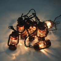 Christmas Copper Lantern 10-Light Set, 3-1/4-Inch