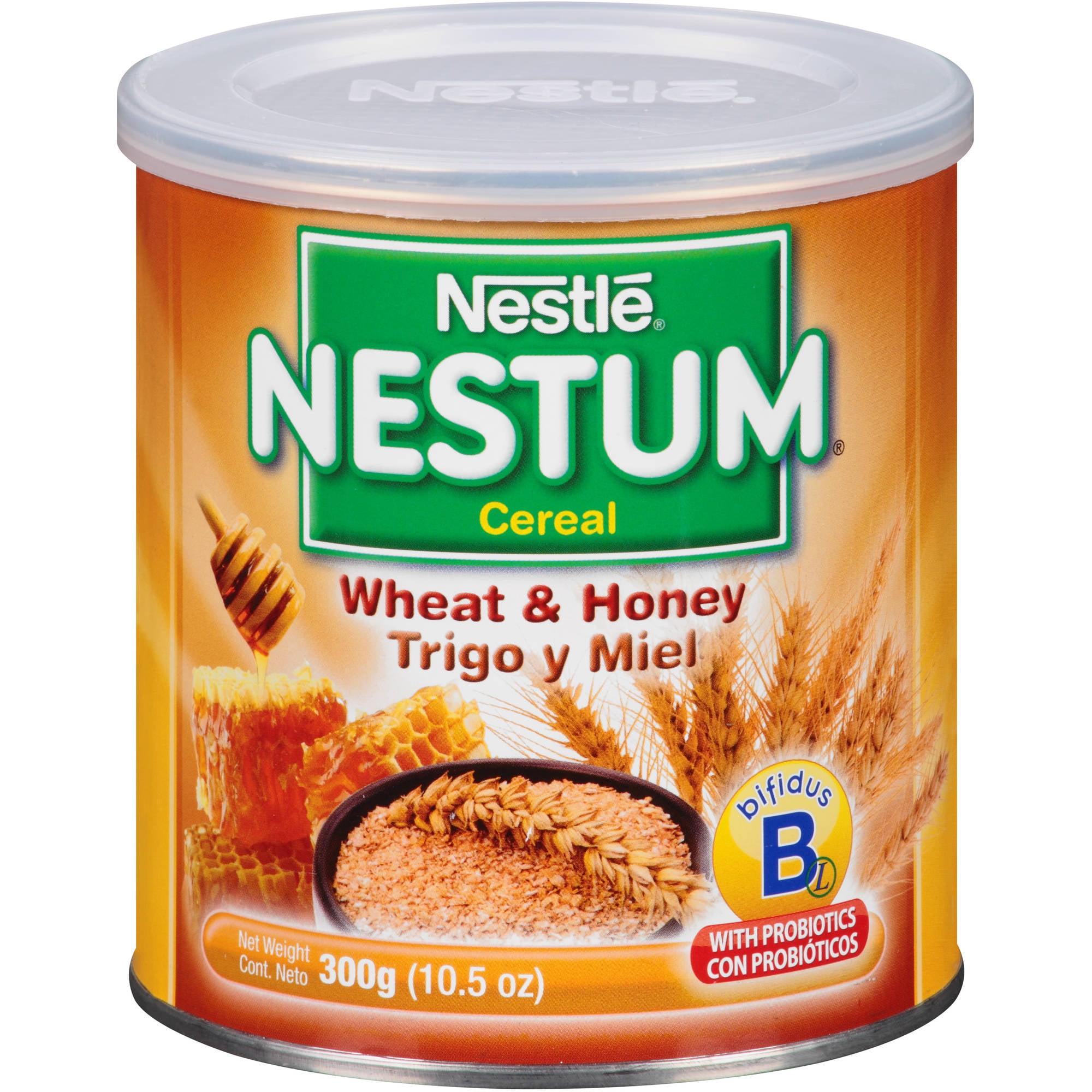 Nestle Nestum Wheat & Honey Cereal 10.5 oz. Canister
