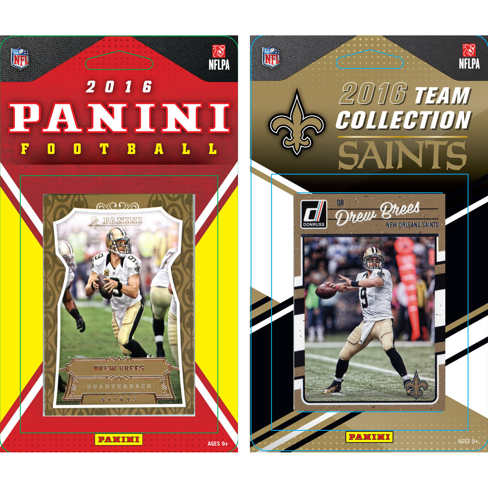 C & I Collectables NFL New Orleans Saints Licensed 2016 Panini and Donruss Team set