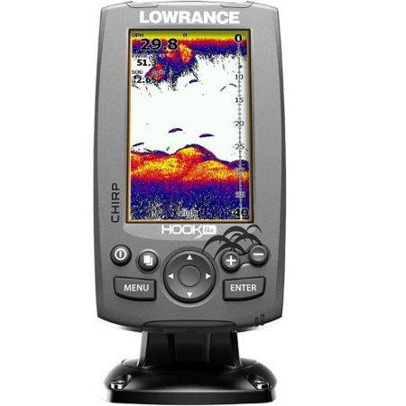 Lowrance Hook-4 Mid/High/Downscan Fishfinder HOOK-4 Fishfinder