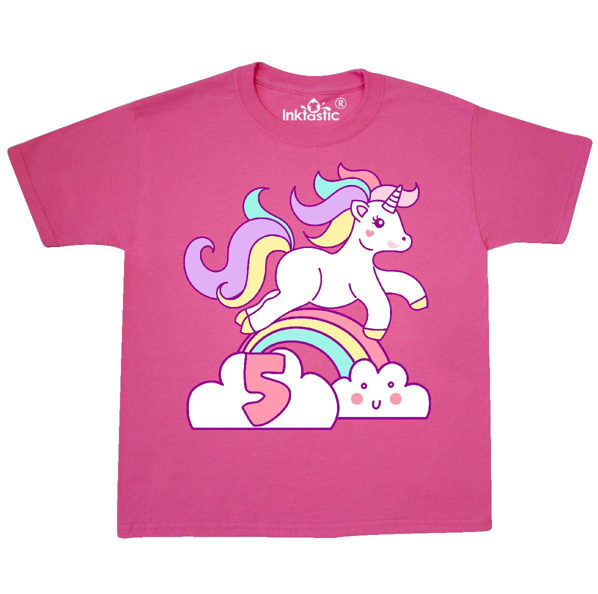 18559d29390 Inktastic unicorn birthday youth shirt bday cute tee kids children child  jpg 1196x1188 Ebay tops blue