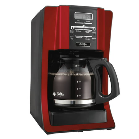 Mr. Coffee Advanced Brew 12 Cup Programmable Red Coffee (Best Coffee Maker And Espresso Machine Combo)