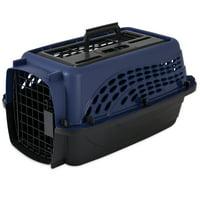 "Doskocil Top Loading Dog Kennel Carrier, Blue & Black, X-Small, 19"""