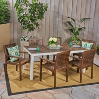 Christopher Knight Home Bodum Outdoor 7-Piece Acacia Wood Dining Set by