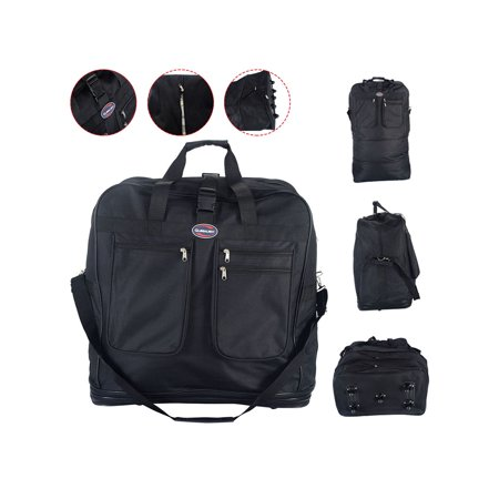 b117f50e9fb4 40'' Rolling Wheeled Duffel Bag Spinner Suitcase Spinning Luggage Black