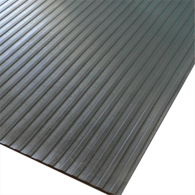 Rubber Cal Wide Rib Corrugated Rubber Roll Floor Mat 48