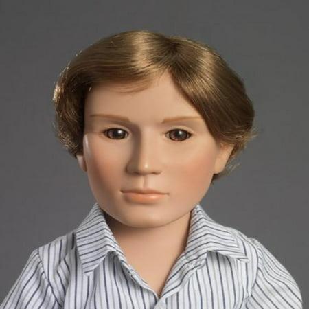 "Carpatina Adam 18"" Slim Vinyl Boy Doll with Brown Hair and Hazel Eyes"