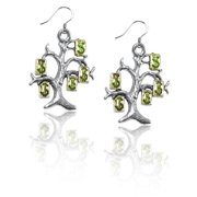 Whimsical Gifts 1849S-ER Money Tree Charm Earrings in Silver