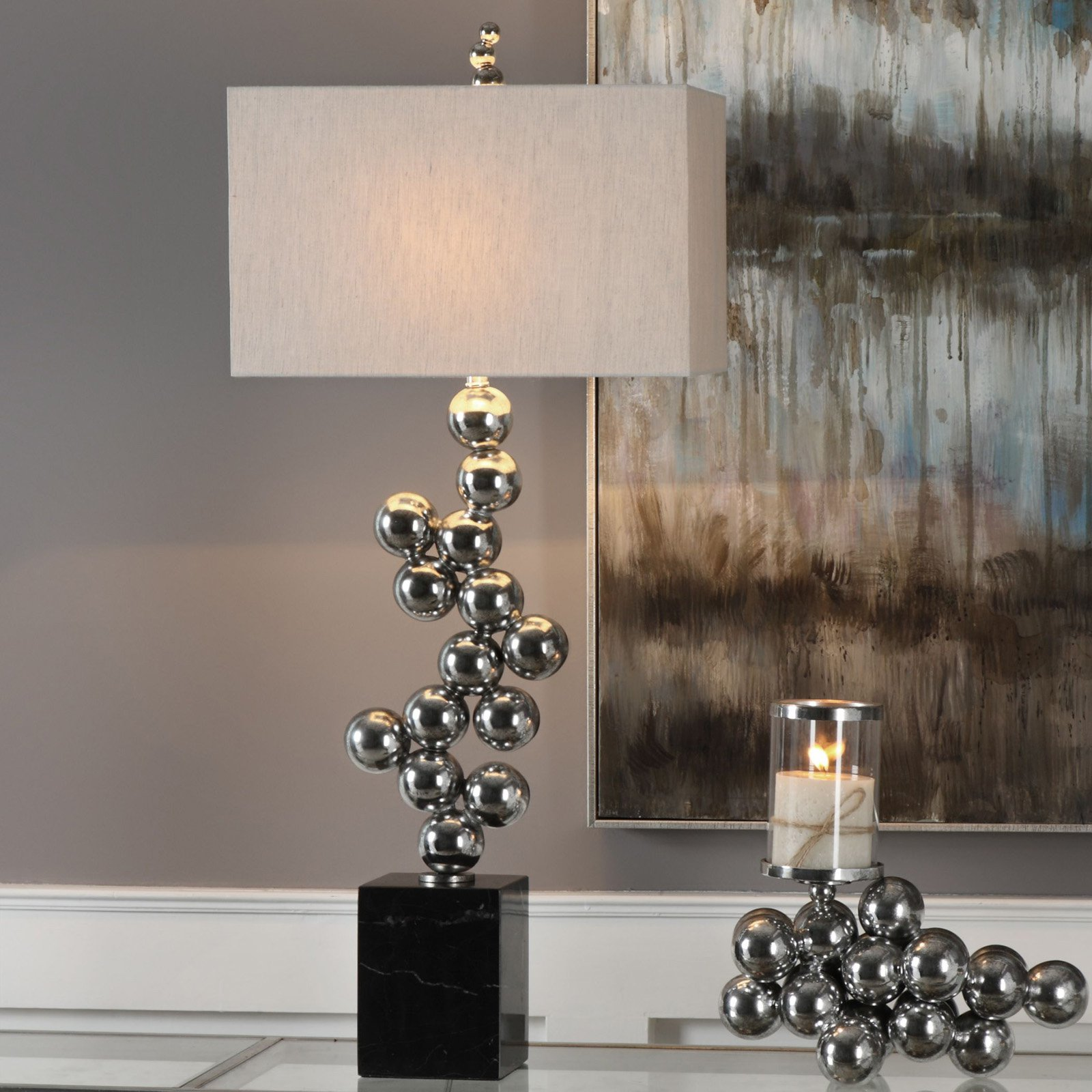 Uttermost Kesi Metal Spheres Table Lamp Walmart Com