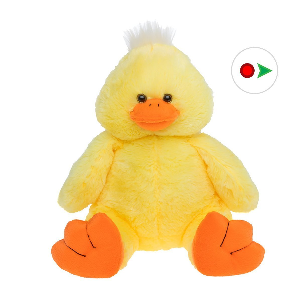 Record Your Own Plush 16 inch Yellow Plush Duck - Ready To Love In A Few Easy Steps