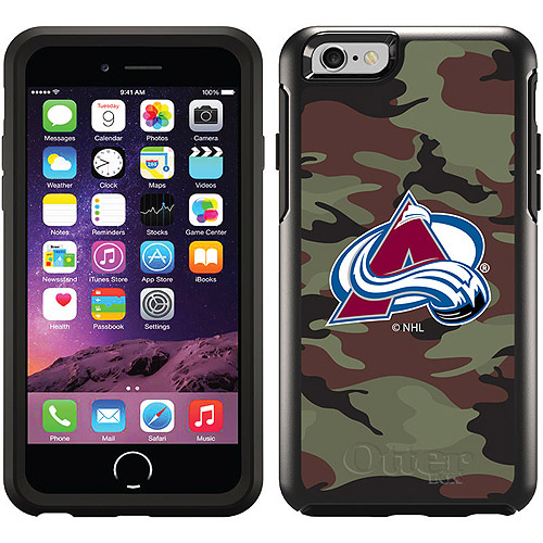 Colorado Avalanche Traditional Camo Design on OtterBox Symmetry Series Case for Apple iPhone 6
