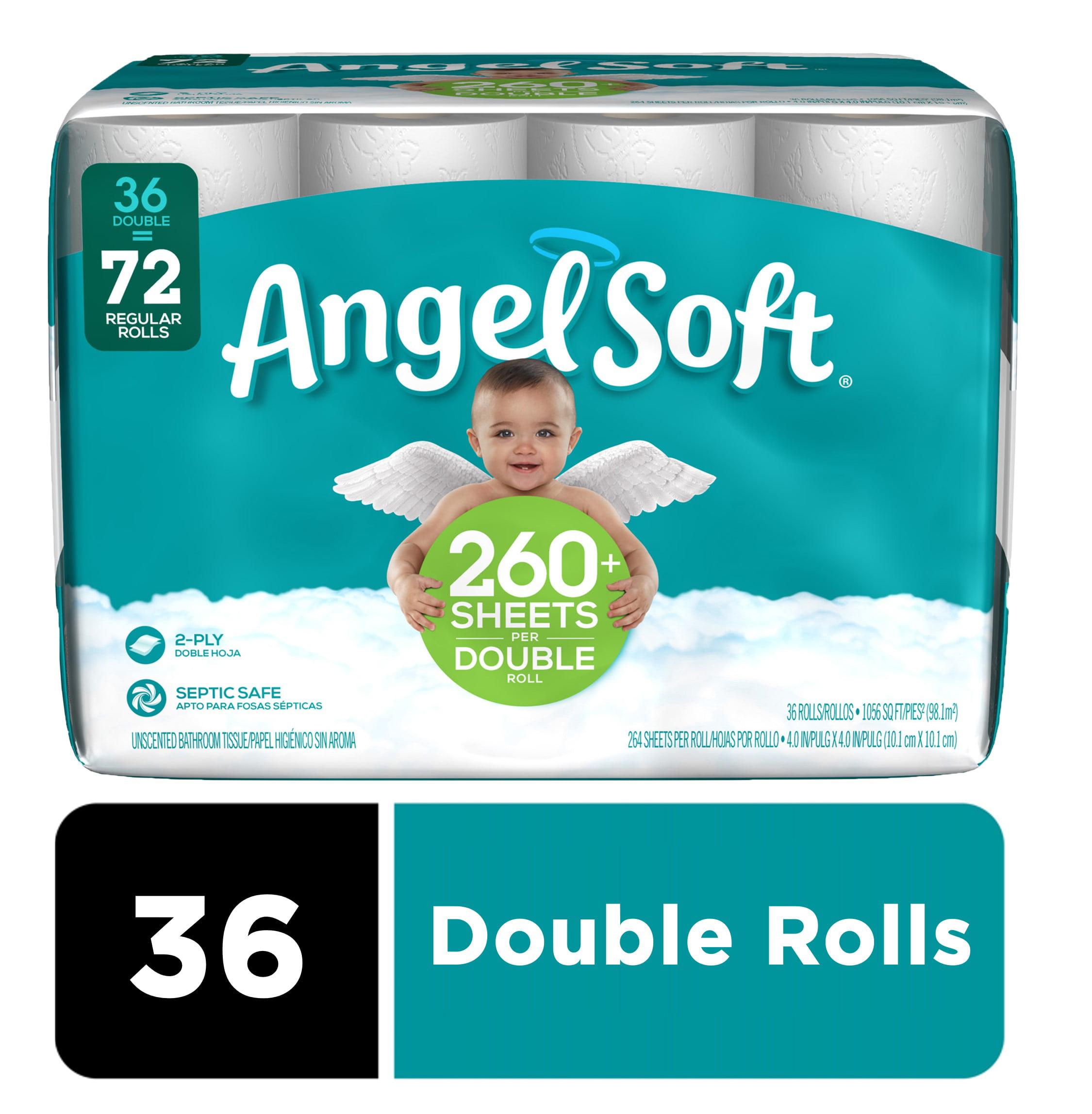 Angel Soft Toilet Paper 36 Double Rolls 72 Regular Rolls Walmart Com Walmart Com
