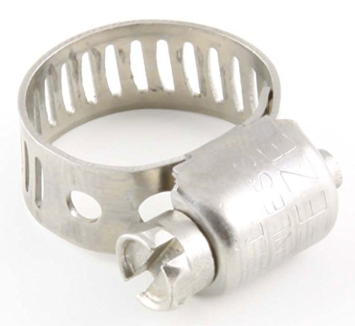 "1/4"" - 5/8"" Harsh-Environment Worm-Drive Hose Clamps, SAE 4 Mini - (pack of 10)"