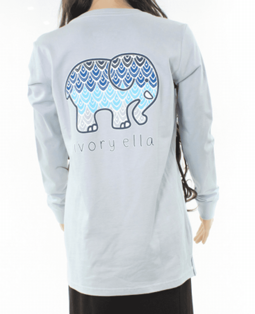 73018ce1765f Ivory Ella - Ivory Ella NEW Blue Save The Elephant Small S Pocket Graphic  Tee T-Shirt - Walmart.com