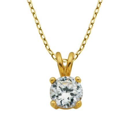 18K Goldplated Cubic Zirconia Pendant Necklace Gold Gp Pendant Necklace